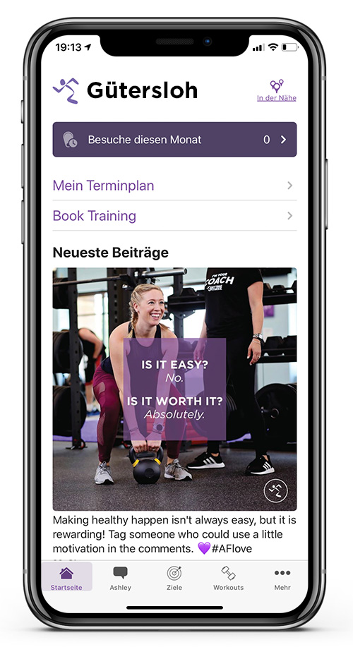 Anytime Fitness Germany Workout App 4