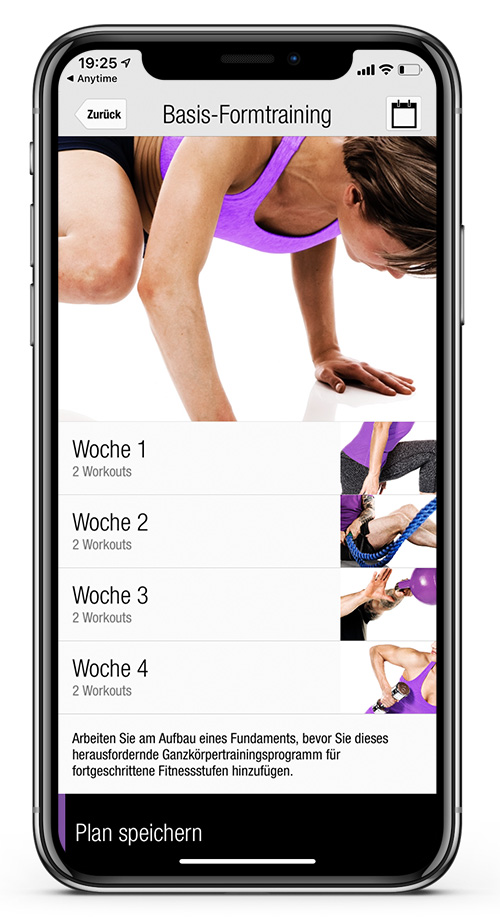Anytime Fitness Germany Workout App